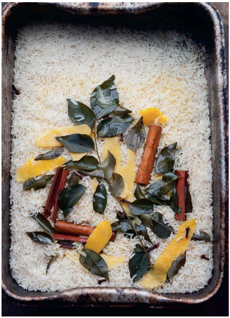 Lemon and Curry leaf rice ottolenghi